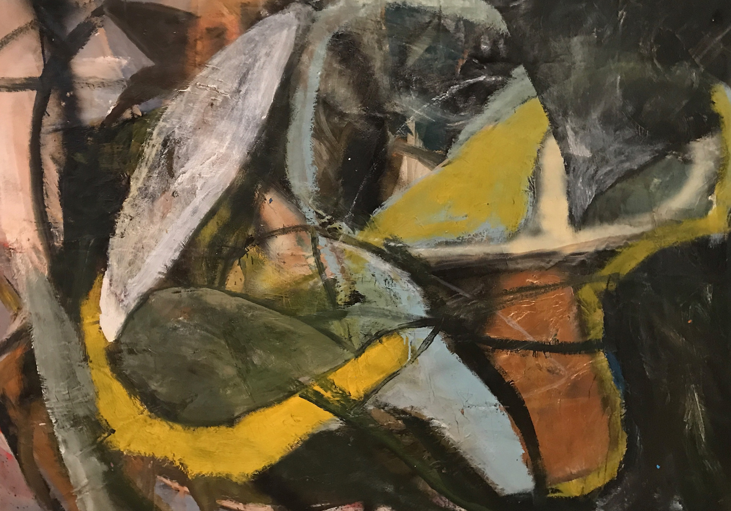 Untitled Abstract Painting 1986 54x65