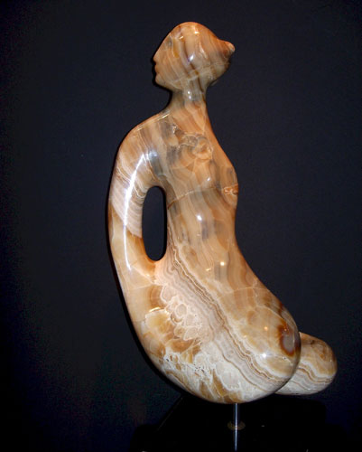 Guinevere Onyx Unique Sculpture 17 in