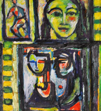 Untitled, Montage of Three Original Paintings