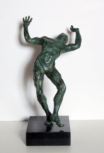 Spirit of Zorba Bronze Sculpture AP 1984 by Anthony Quinn