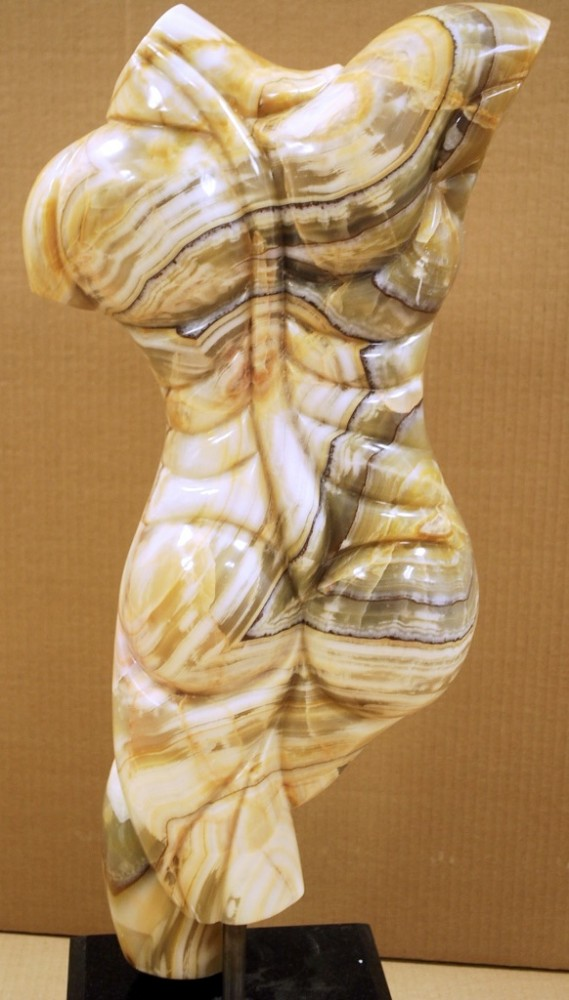 Promethius Marble Unique Sculpture 1980 23 in
