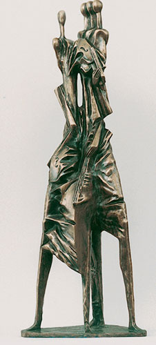 Quartet Bronze Sculpture 1998 41 in