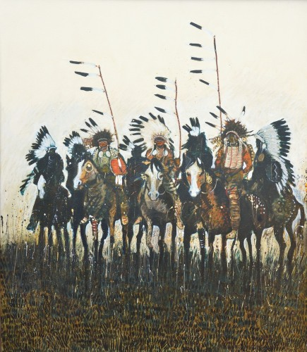 Three Warriors With Cuop Sticks 1991
