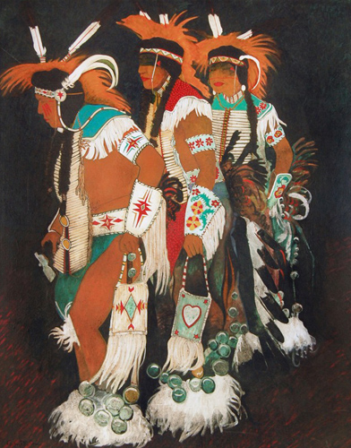 Crow Indian Straight Dancers 1987