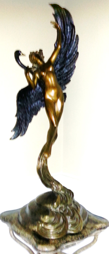 Leda And the Swan Bronze Sculpture 37 in