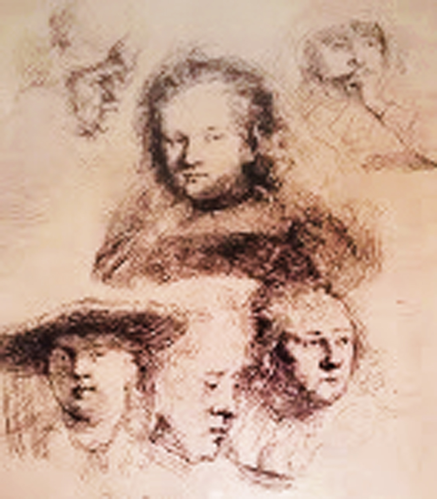 Studies of the Head of Saskia And Others