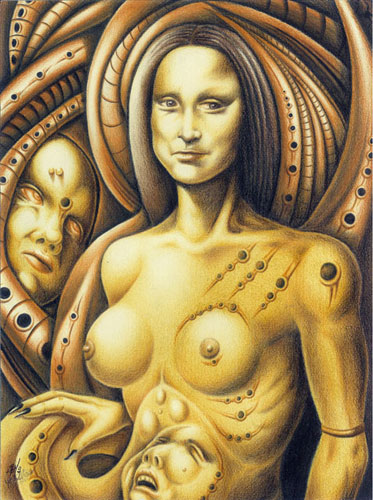 Mona Lisa of the Silicon Breasts 2010 16x12
