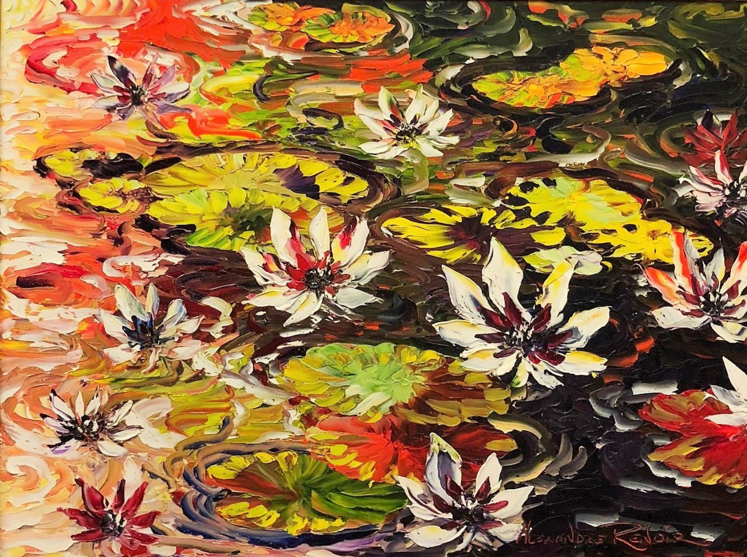 Waterlilies 2010 39x49