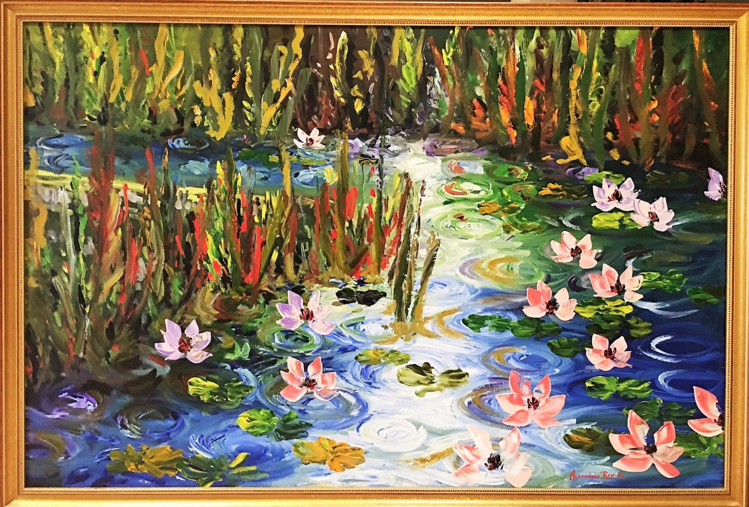 Waterlilies At Giverny 2009 63x43