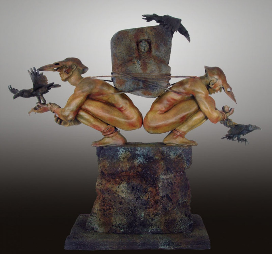 Choice of Causation Bronze Sculpture 2012  46 in