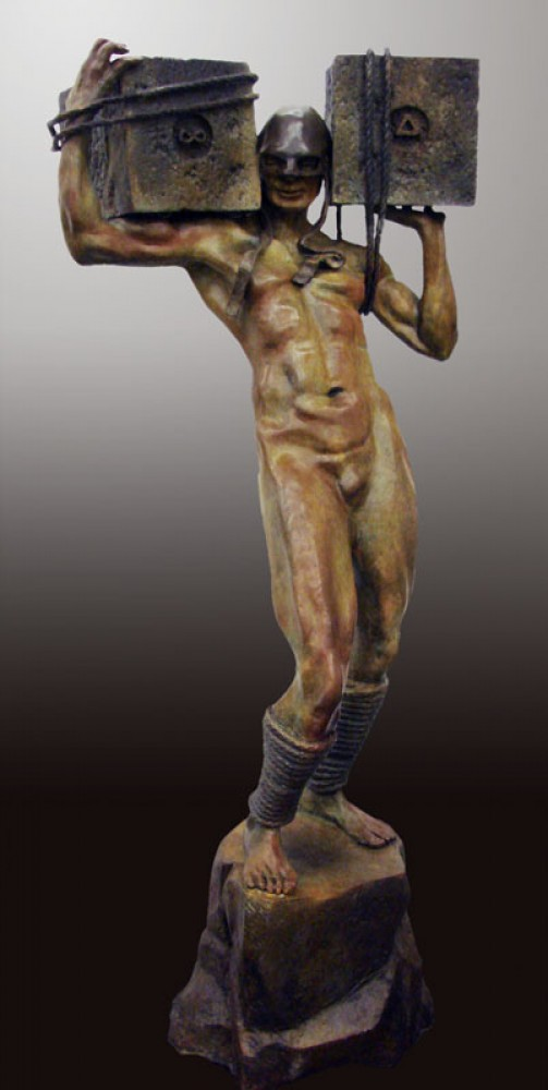 Awake Bronze Sculpture 2009 55 in