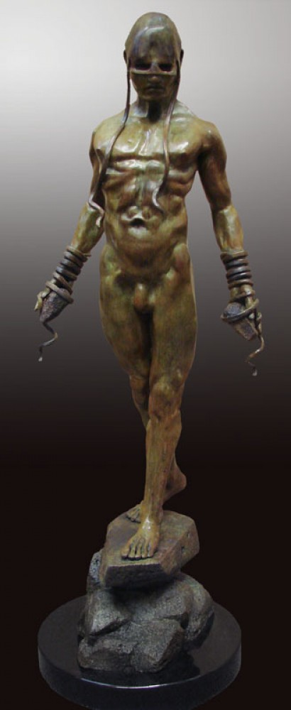 Bound to His Emotion Bronze Sculpture 2012 45 in