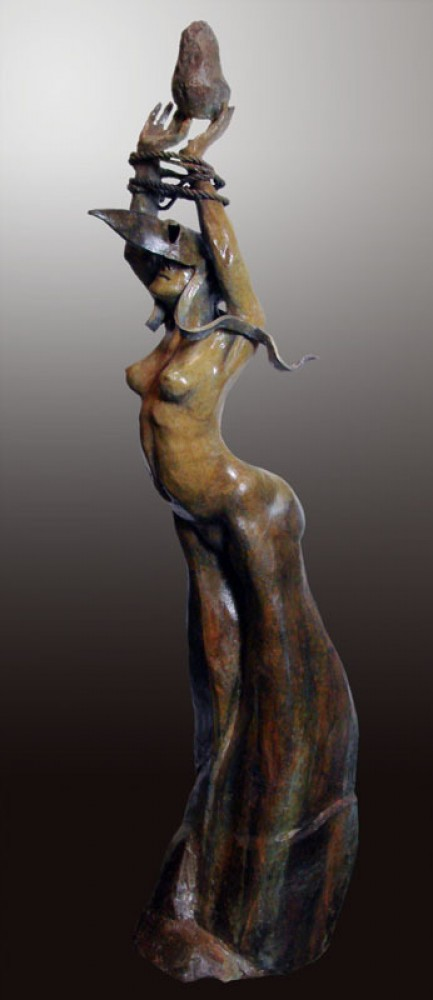 Letting Go Bronze Sculpture 2009 42 in