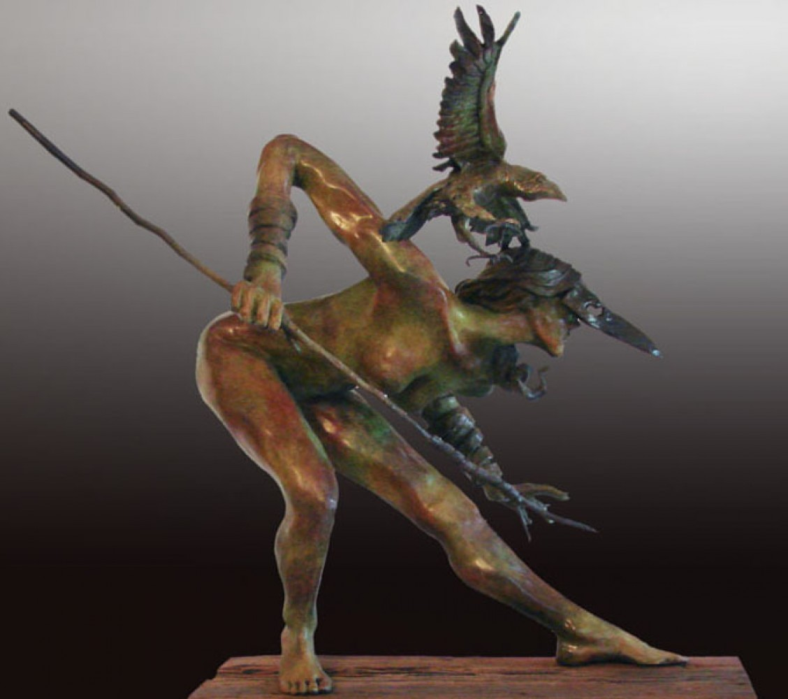 Huntress AP Bronze Sculpture 2010 35 in