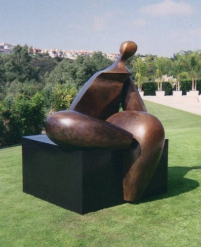 Seated Figure IV (Monumental) Bronze Sculpture AP 1993 72x60x57