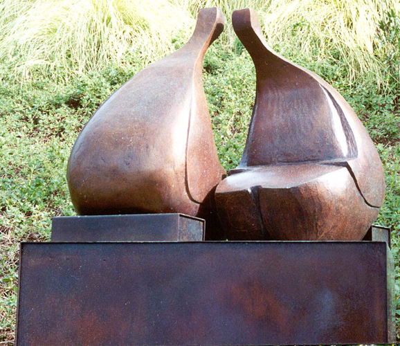 Conversation Bronze Sculpture 38x36 in