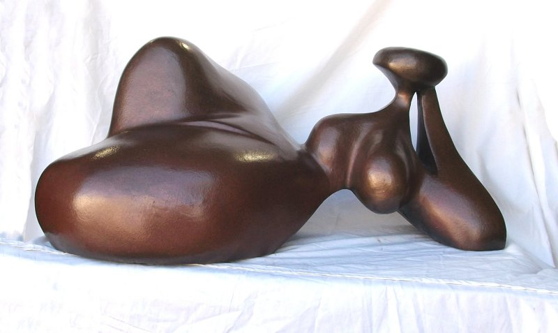 Eve Reclining Bronze Sculpture AP 24x36 in
