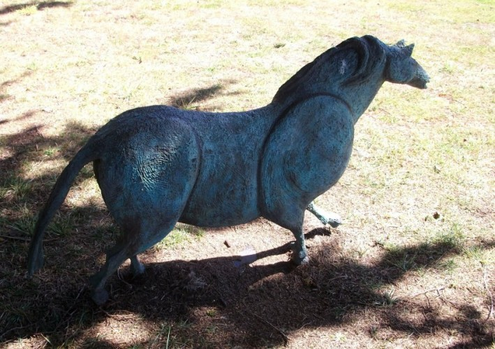 Cave Horse Bronze Sculpture 1998 55x32 in
