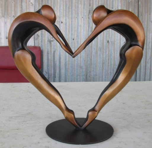 Arched Dancers II Small Bronze  16x16 in Sculpture