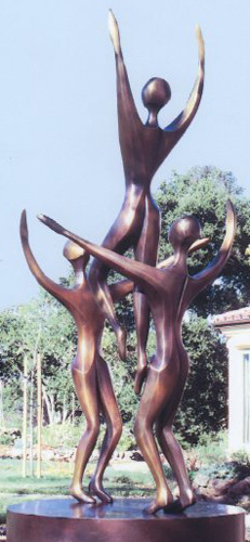 Rhapsody (3 Figures) Bronze Sculpture 1996  96 inches