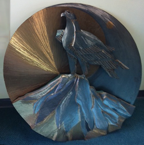 Untitled Bronze and Metals Sculpture 48 in