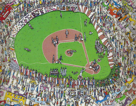 Great American Pastime 3-D 1982 by James Rizzi