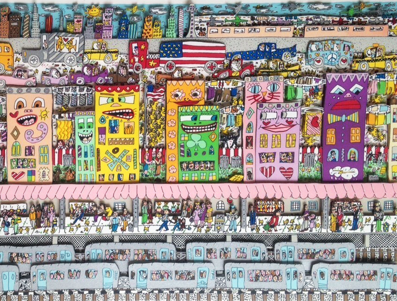 Going Places   1994 3-D by James Rizzi
