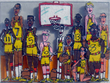 Basketball Team Photo 3-D 1998