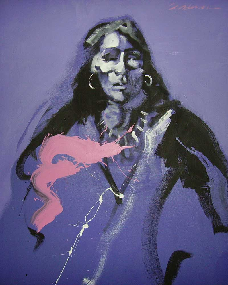 Indian in Shades of Violet 1979 48x36
