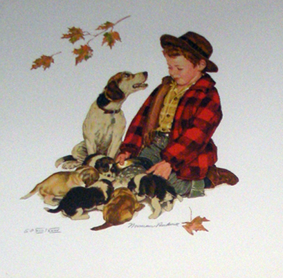 Puppy Love (Suite of 4 Lithographs) AP