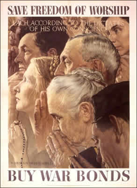 Four Freedoms Poster Series Set of Four Posters 1943