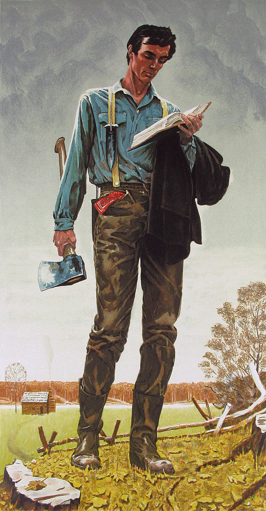 Young Lincoln AP 1976 by Norman Rockwell