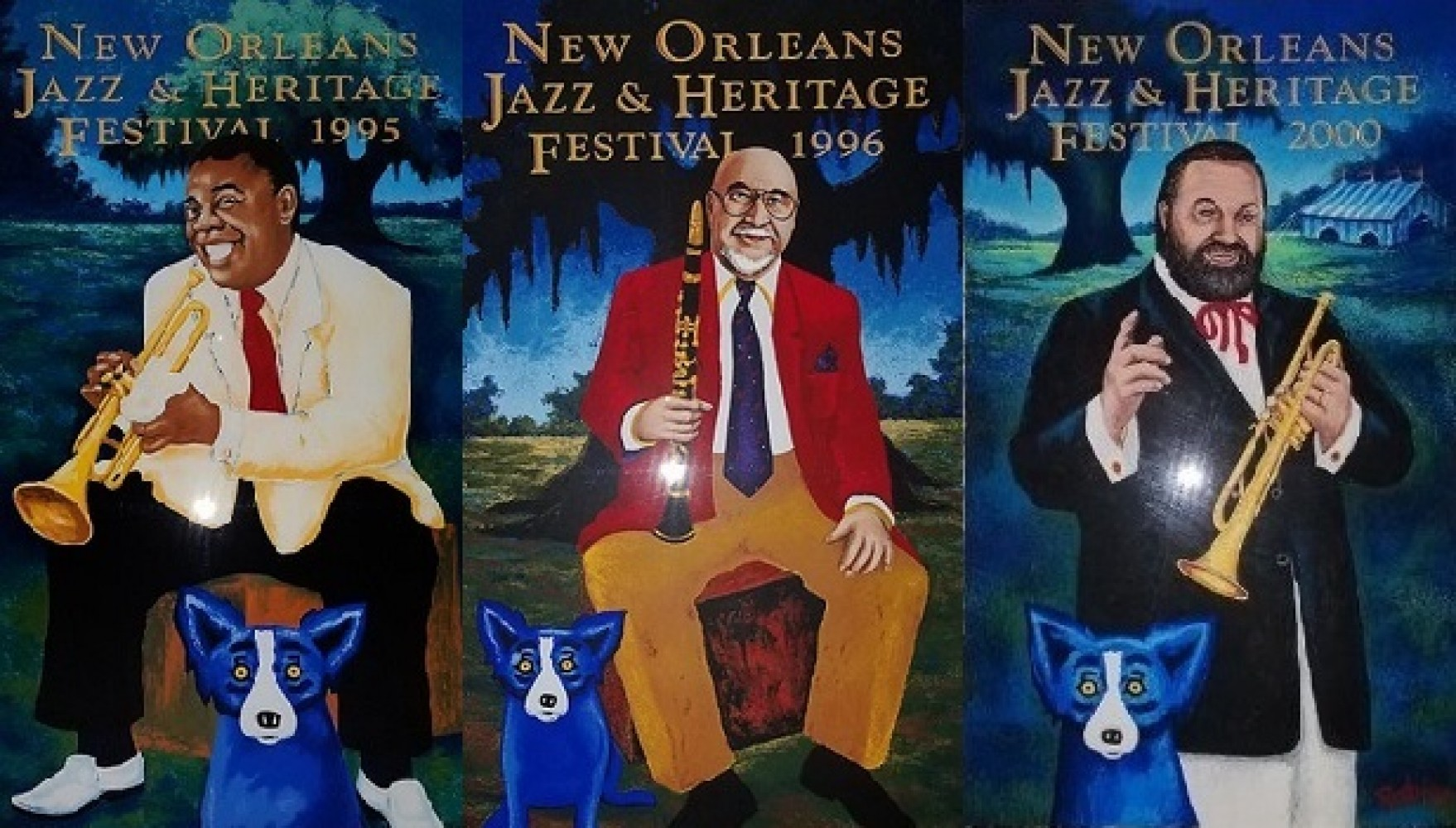 New Orleans Jazz and Heritage Festival  Suite of 3 2000