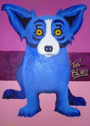 Blue Dog Original Painting For Sale