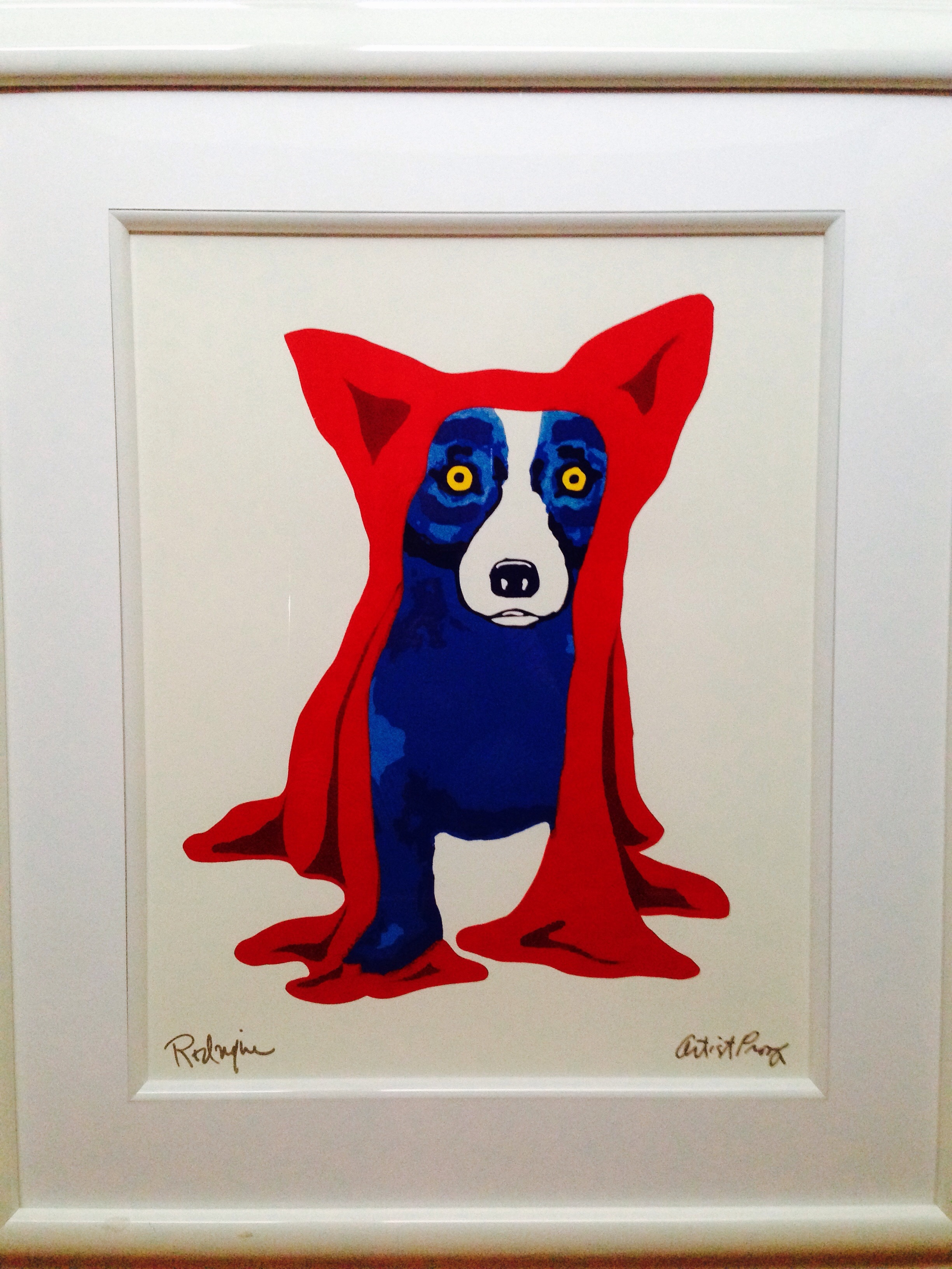 Hidin My Blues From You AP 1995 by Blue Dog George Rodrigue