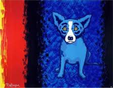 Shades of My Past Life 2001 by Blue Dog George Rodrigue