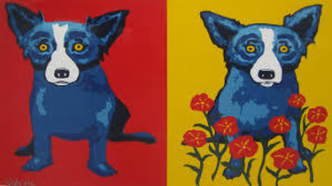 Sweetheart Memories 1998 by Blue Dog George Rodrigue