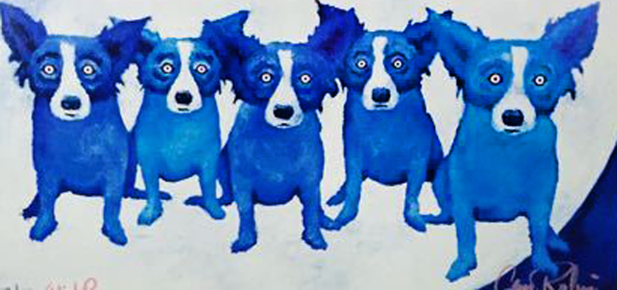 Home on the Moon 1991 AP by Blue Dog George Rodrigue