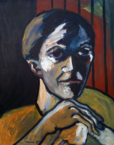 Untitled German Woman 1985 28x22
