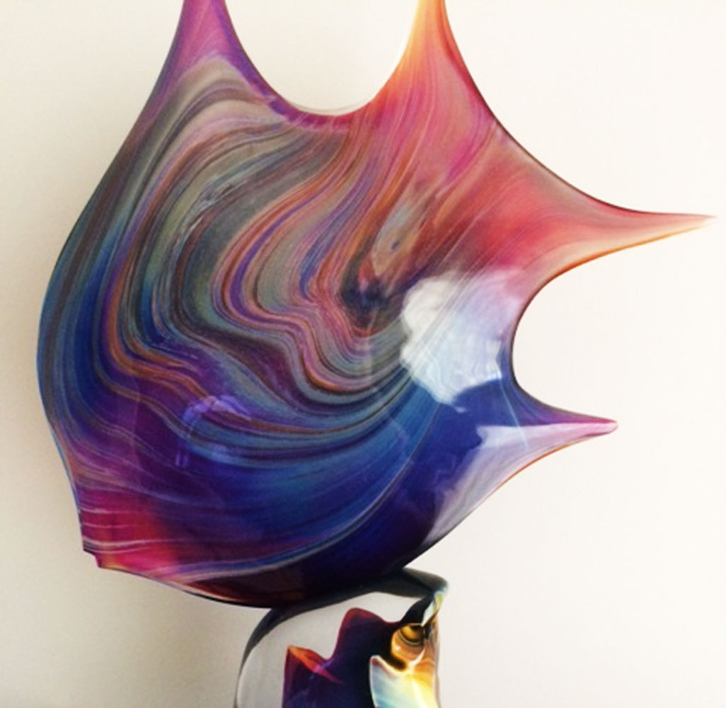 Pesce - Fish Glass Sculpture 25 in