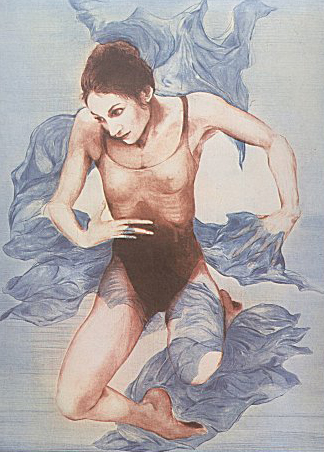 Dancer, Blue Shawl 1973