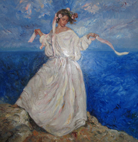 Major Painting Untitled, Daughter in White Dress