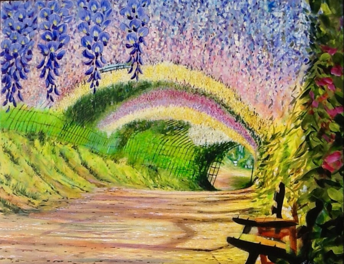 Wisteria Tunnel  2015 24x30