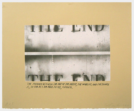 The End State I (Unique Pettibon edition)