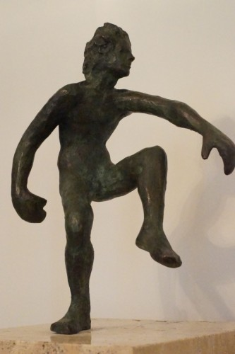 Action Bronze Sculpture 1977 12 in