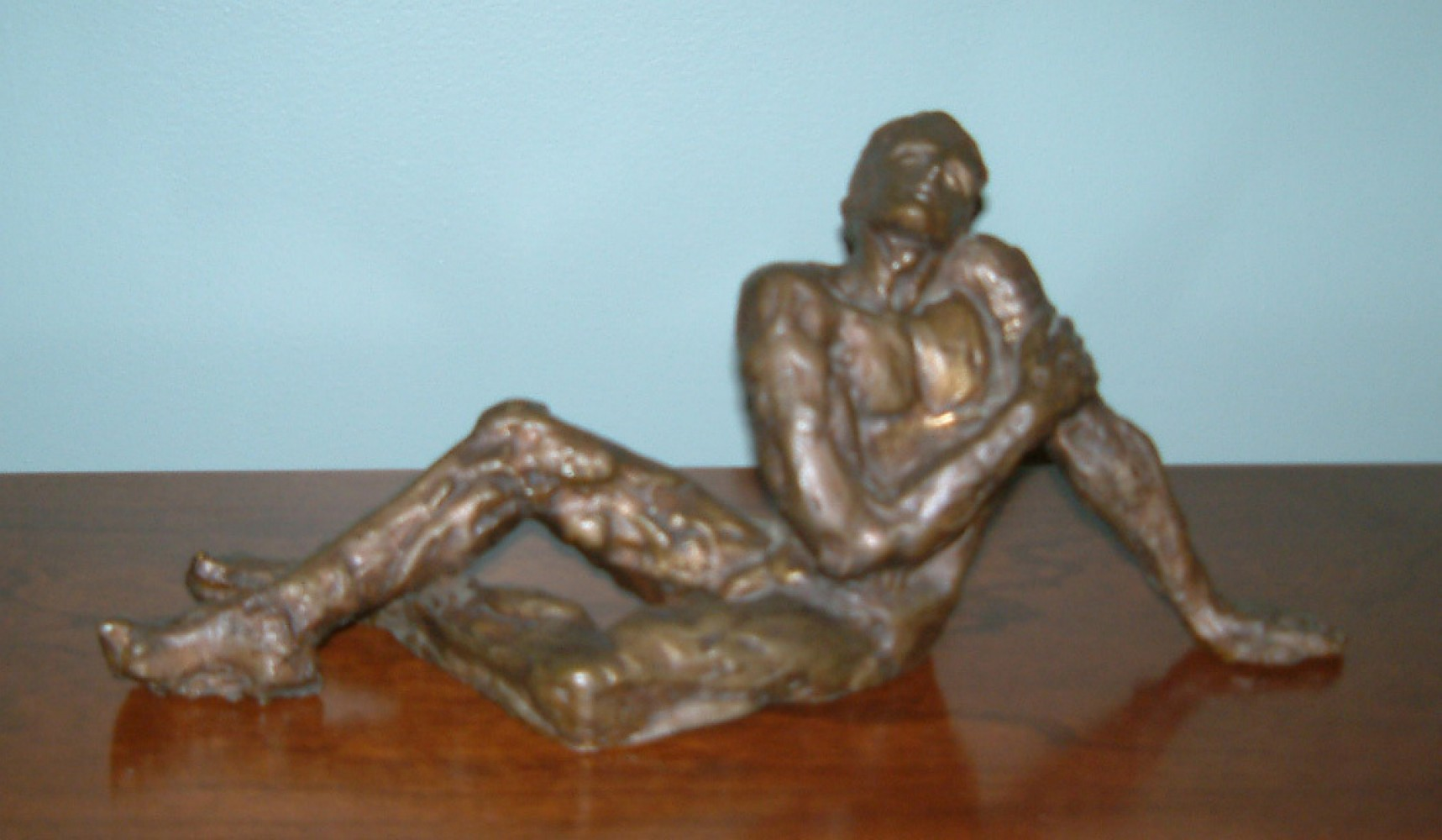 Dreamer (Sonador) Bronze Sculpture 1970 13 in