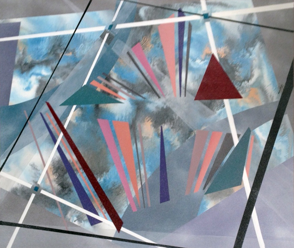 Untitled, Geometric Abstract Shapes 1987
