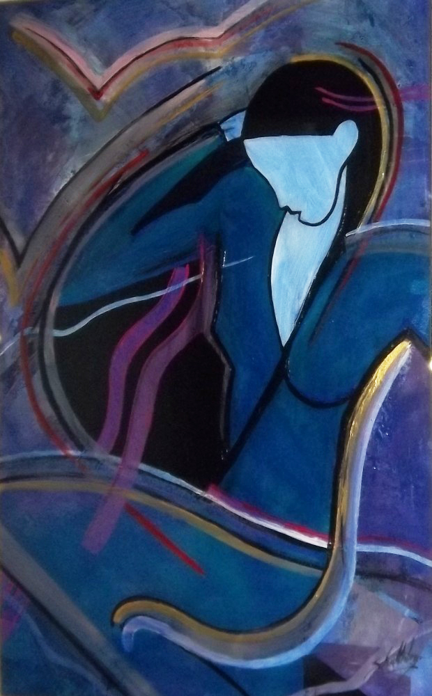 Abstract Female Figure 1995 60x40