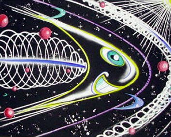 Space Traveler 2011 by Kenny Scharf