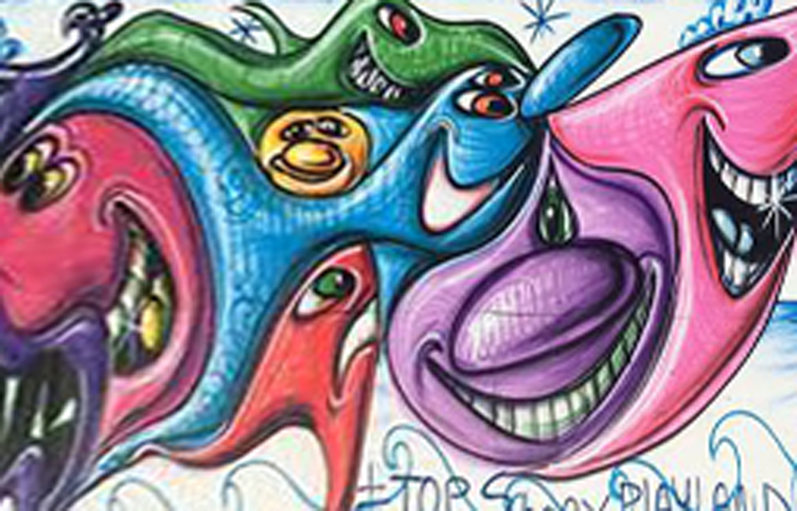 Playland 2012 96x288 by Kenny Scharf